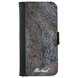 Textura negra roja de piedra del granito carcasa de iPhone 6