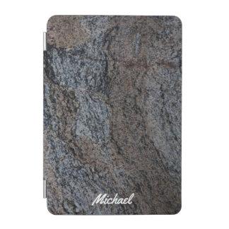 Textura negra roja de piedra del granito cover de iPad mini