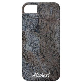Textura negra roja de piedra del granito funda para iPhone SE/5/5s