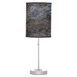 Textura negra roja de piedra del granito lámpara de escritorio