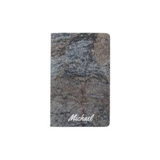 Textura negra roja de piedra del granito libreta de bolsillo moleskine