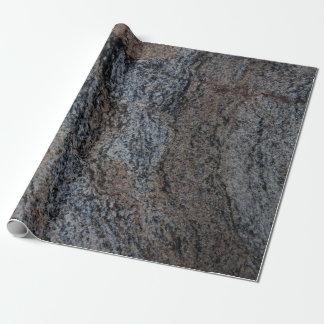 Textura negra roja de piedra del granito papel de regalo