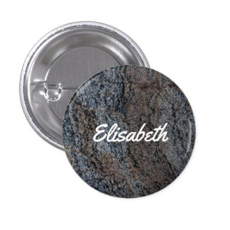 Textura negra roja de piedra del granito pin redondo de 1 pulgada