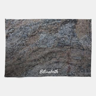 Textura negra roja de piedra del granito toallas de mano