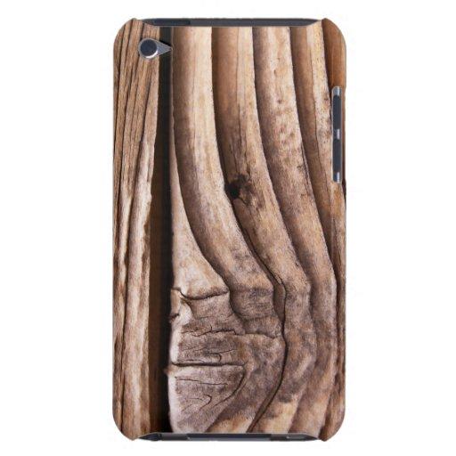 Textura nudosa áspera de Brown de los tablones de  iPod Touch Case-Mate Protectores