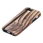 Textura nudosa áspera de Brown de los tablones de  iPhone 5 Case-Mate Coberturas
