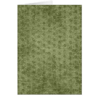 Textura nudosa de la tela de felpilla del verde tarjeta de felicitación