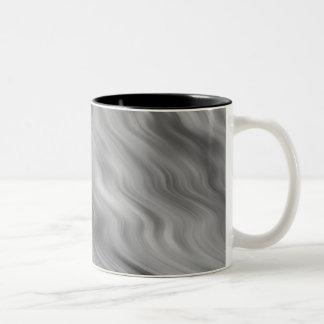 Textura ondulada color de rosa negra taza de dos tonos