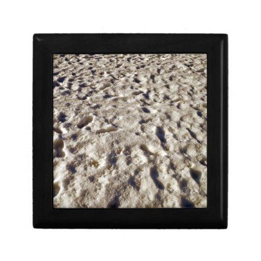 Textura ondulada de la arena caja de recuerdo
