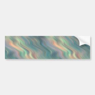 Textura ondulada del iris azul pegatina para auto