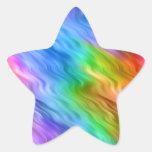 Textura ondulada del pensamiento azul calcomanías forma de estrellaes personalizadas