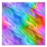 Textura ondulada del pensamiento azul impresión fotográfica