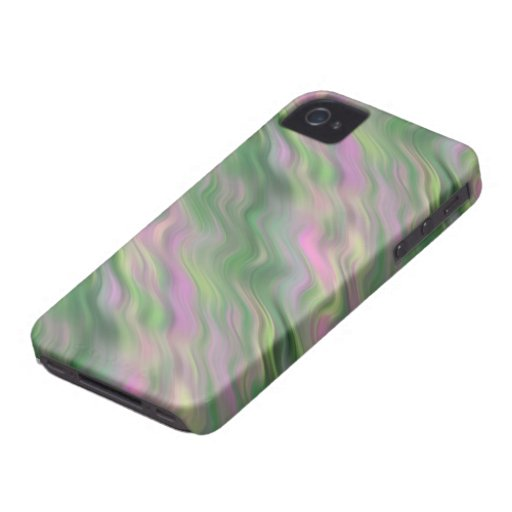 Textura ondulada del tulipán rosado iPhone 4 Case-Mate carcasa