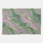 Textura ondulada del tulipán rosado toallas de mano