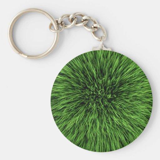 Textura orgánica del césped de la hierba verde 3d llaveros personalizados