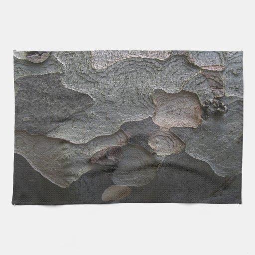 Textura orgánica natural de la corteza de árbol de toalla de mano