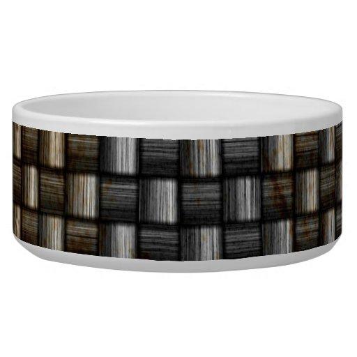 textura oxidada de la fibra de carbono tazón para perro