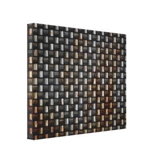 textura oxidada de la fibra de carbono impresión en lienzo estirada