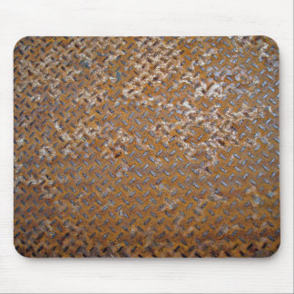 Textura oxidada de la pisada del metal de Brown Alfombrillas De Ratones