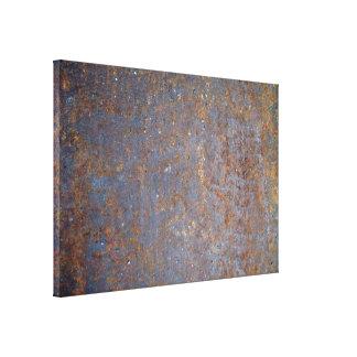 Textura oxidada del metal impresiones en lienzo estiradas
