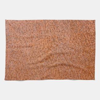 Textura oxidada del metal toallas de mano