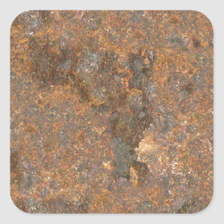 Textura oxidada del metal colcomanias cuadradas personalizadas