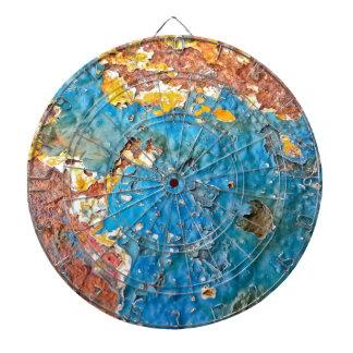 Textura oxidada multicolora tablero de dardos