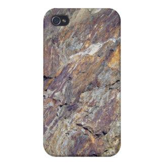 Textura pedregosa del paisaje de la montaña iPhone 4 funda