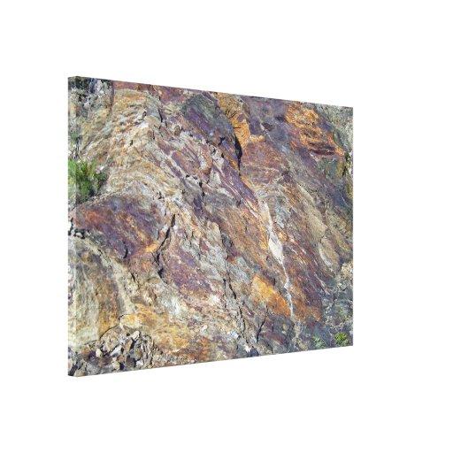 Textura pedregosa del paisaje de la montaña lona estirada galerías