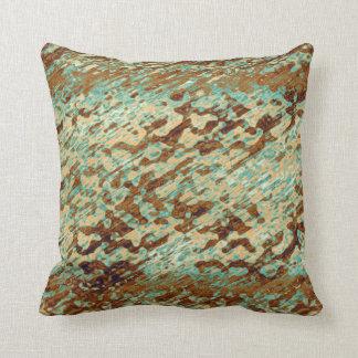 Textura pescada con caña mancha abigarrada Brown Almohada
