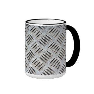 Textura plateada de metal taza de dos colores