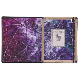 Textura púrpura, azul, y roja del Grunge del iPad Cárcasas