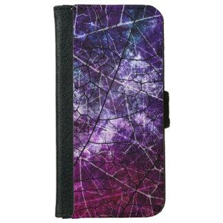 Textura púrpura, azul, y roja del Grunge del Funda Cartera Para iPhone 6