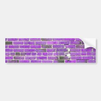 Textura púrpura de la pared de ladrillo del vintag pegatina para auto