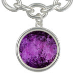 Textura púrpura del Grunge de la salpicadura de la Pulseras