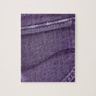 Textura púrpura retra del dril de algodón rompecabezas con fotos
