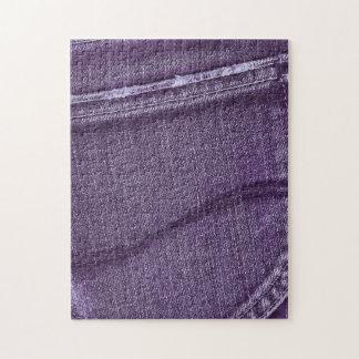 Textura púrpura retra del dril de algodón puzzle