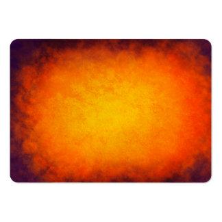 Textura púrpura y anaranjada de la puesta del sol tarjetas de visita grandes