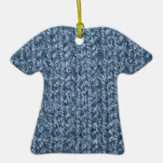 Textura que hace punto del hilado coloreado Azul-G Ornamento De Navidad