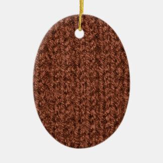 Textura que hace punto del hilado coloreado marrón ornamento de reyes magos