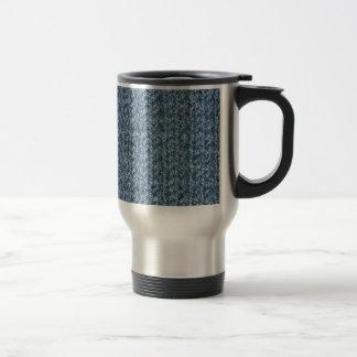 Textura que hace punto del hilado coloreado taza térmica