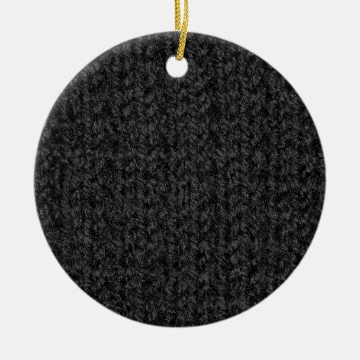 Textura que hace punto del hilado Negro-Coloreado Adorno Navideño Redondo De Cerámica