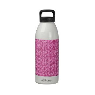 Textura que hace punto del hilado Rosado-Coloreado Botella De Agua Reutilizable