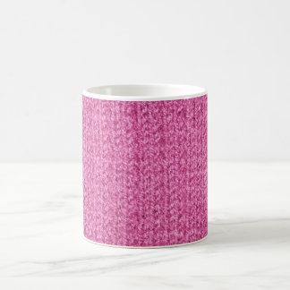 Textura que hace punto del hilado Rosado-Coloreado Taza Clásica