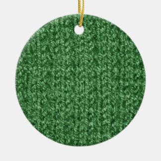 Textura que hace punto del hilado Verde-Coloreado Ornatos
