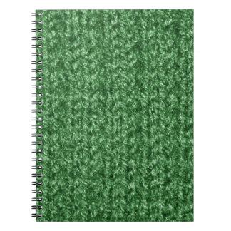 Textura que hace punto del hilado Verde-Coloreado Cuadernos