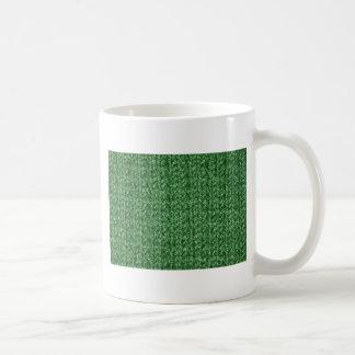 Textura que hace punto del hilado Verde-Coloreado Taza Clásica