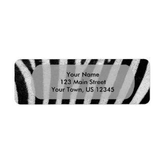 Textura rayada blanco y negro Templat de la piel Etiqueta De Remite