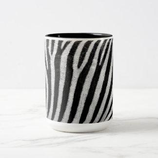 Textura rayada blanco y negro Templat de la piel Taza Dos Tonos