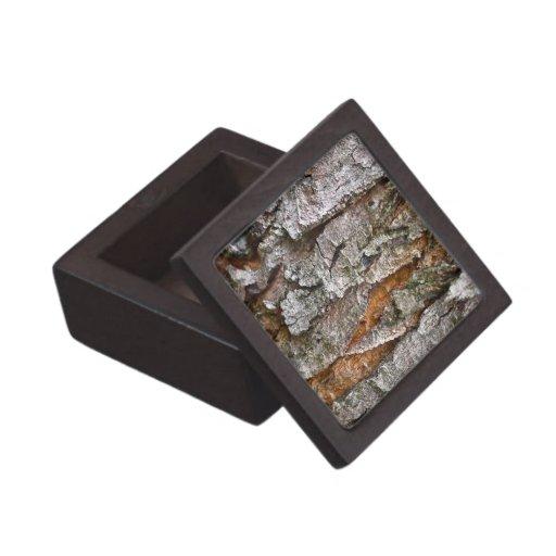 Textura real de la corteza de árbol caja de regalo de calidad